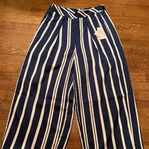 Philosophy Blue and White Wide-Leg Pants